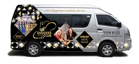 Diggers Services Club Logan Courtesy Bus