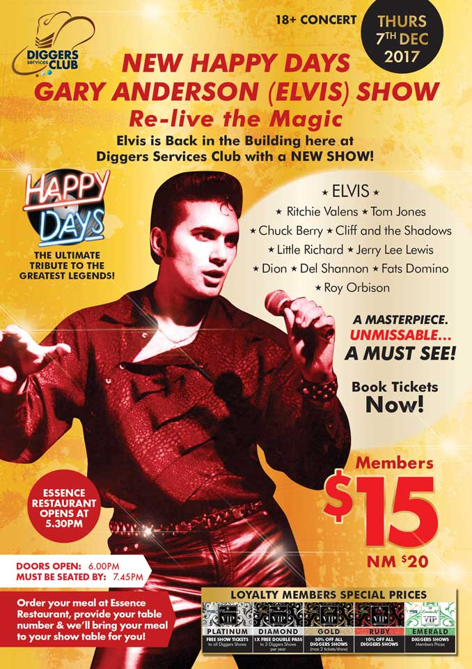 Elvis Live Show by Gary Anderson