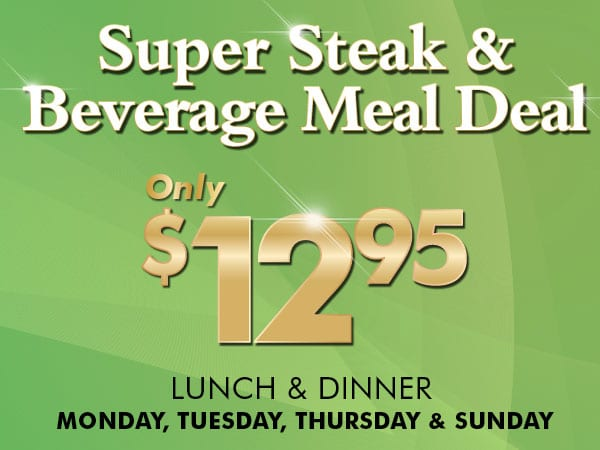 Super Stake Beverage Meal Deal