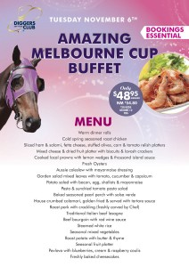 Melbourne Cup Buffet Menu