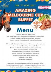 Melbourne Cup Menu