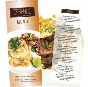 Essence Restaurant menu