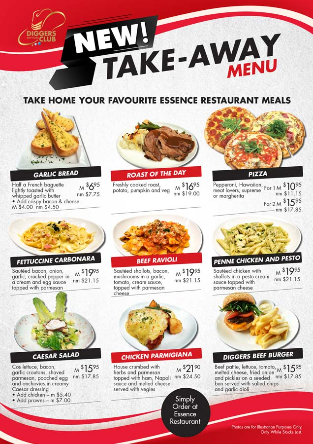 New Take-Away Menu