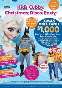 Kids Cubby Christmas Disco Party