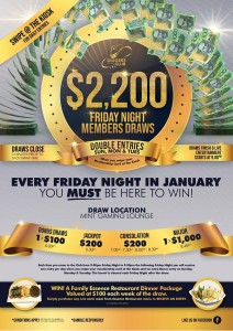 $2,200 Members Draws January