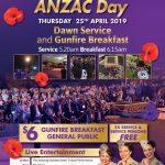 Anzac Day Dawn Service and Gunfire Breakfast