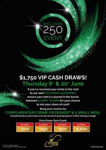 250 exclusive event June