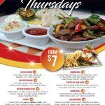 Tijuana Thursdays Dinner Deals
