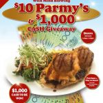 $10 Parmy's & $1,000 Cash Giveaway